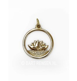 Golden Lotus pendant -