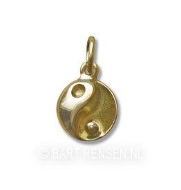 Golden Yin-Yang pendant