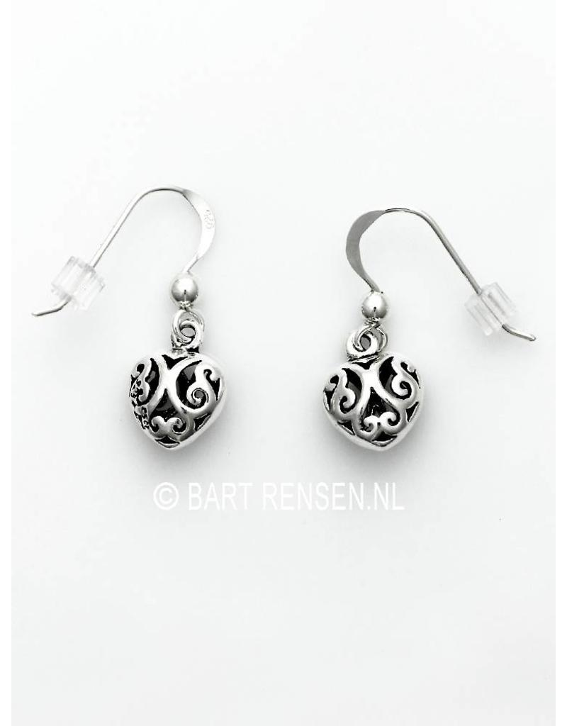 Openwork Heart earrings  -  sterling silver