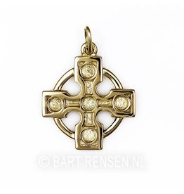 Golden Druid cross pendant -