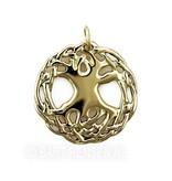 Celtic Life tree pendant - 14 carat gold