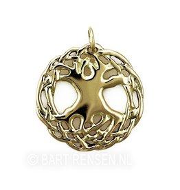 Gouden Keltische Levensboom hanger