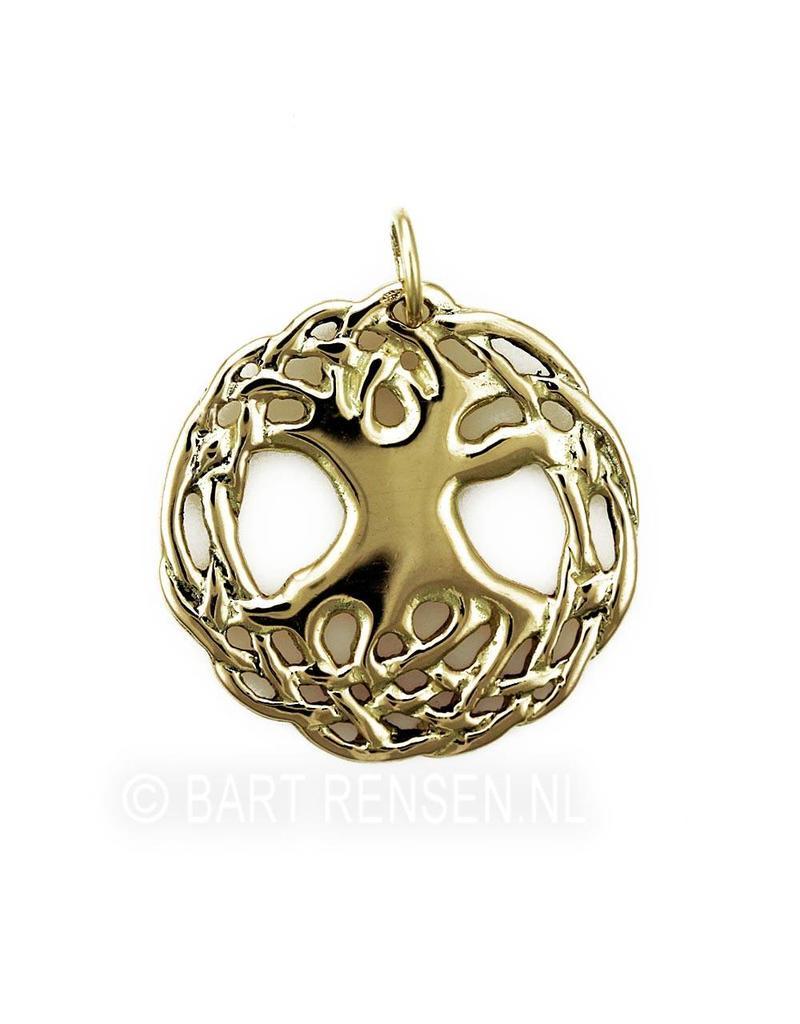 Keltische Levensboom hanger - 14 krt goud