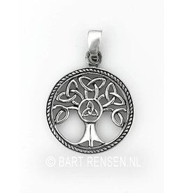 Triskel Tree of life pendant - silver