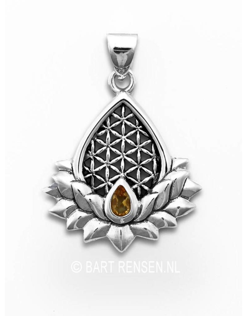 Flower of Life Lotus hanger - echt zilver