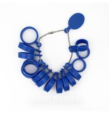 Plastic ringmaten van maat 15 t/m 22