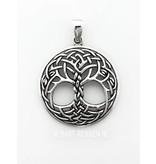 Keltische Levensboom hanger - zilver