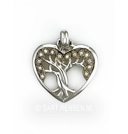 Levensboom Hart hanger - zilver verguld