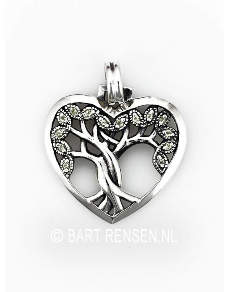 Tree of life Heart pendant - sterling silver