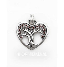 Tree of life Heart pendant - silver