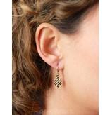 Tibetan Knot earrings - 14 crt Gold