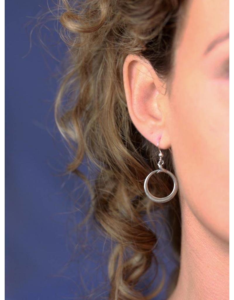 Ouroboros earrings - sterling silver