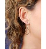 Ouroboros oorhangers - echt zilver