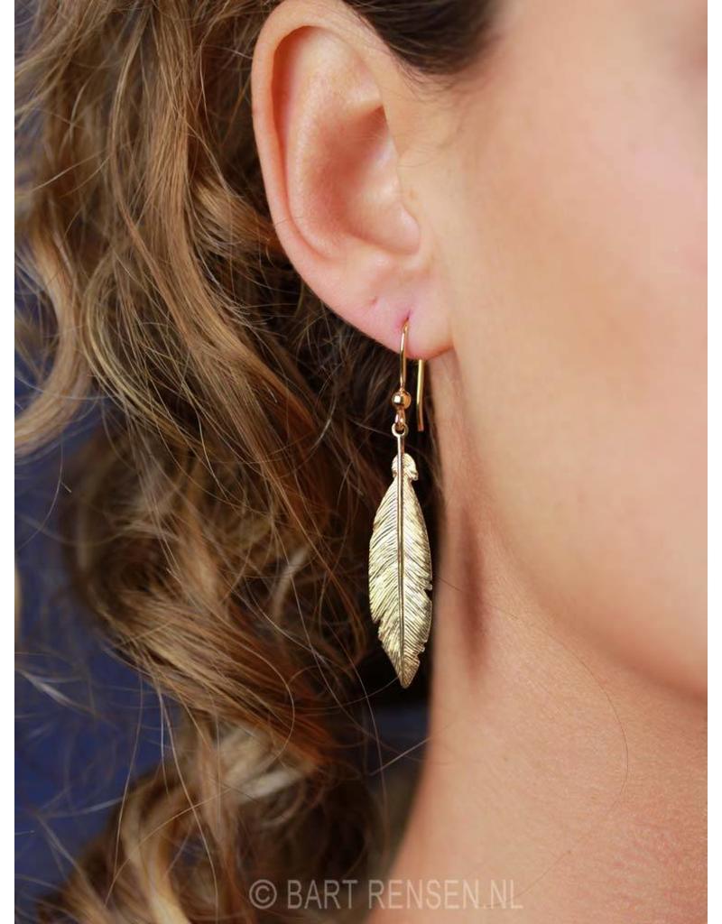 Feather Earrings - sterling silver
