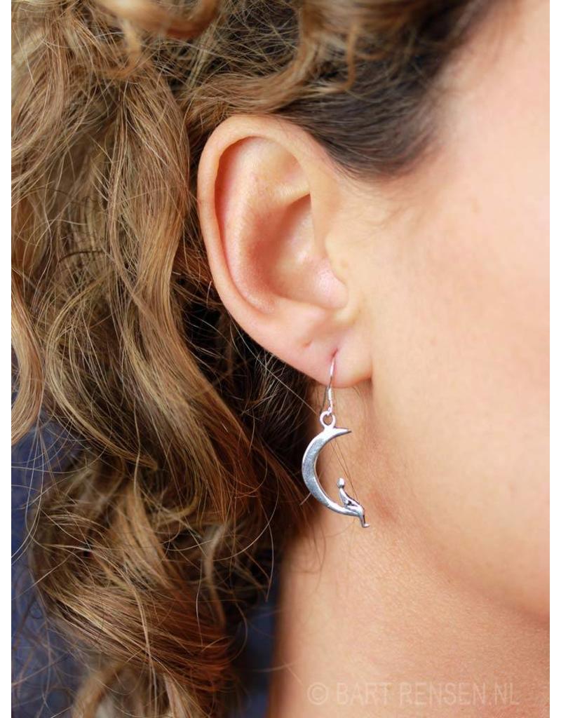 Moon earrings - sterling silver
