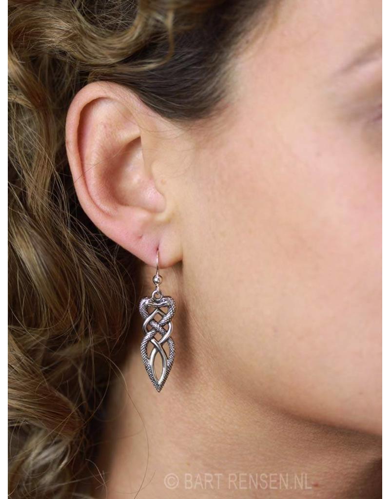 Snakes earrings - sterling silver