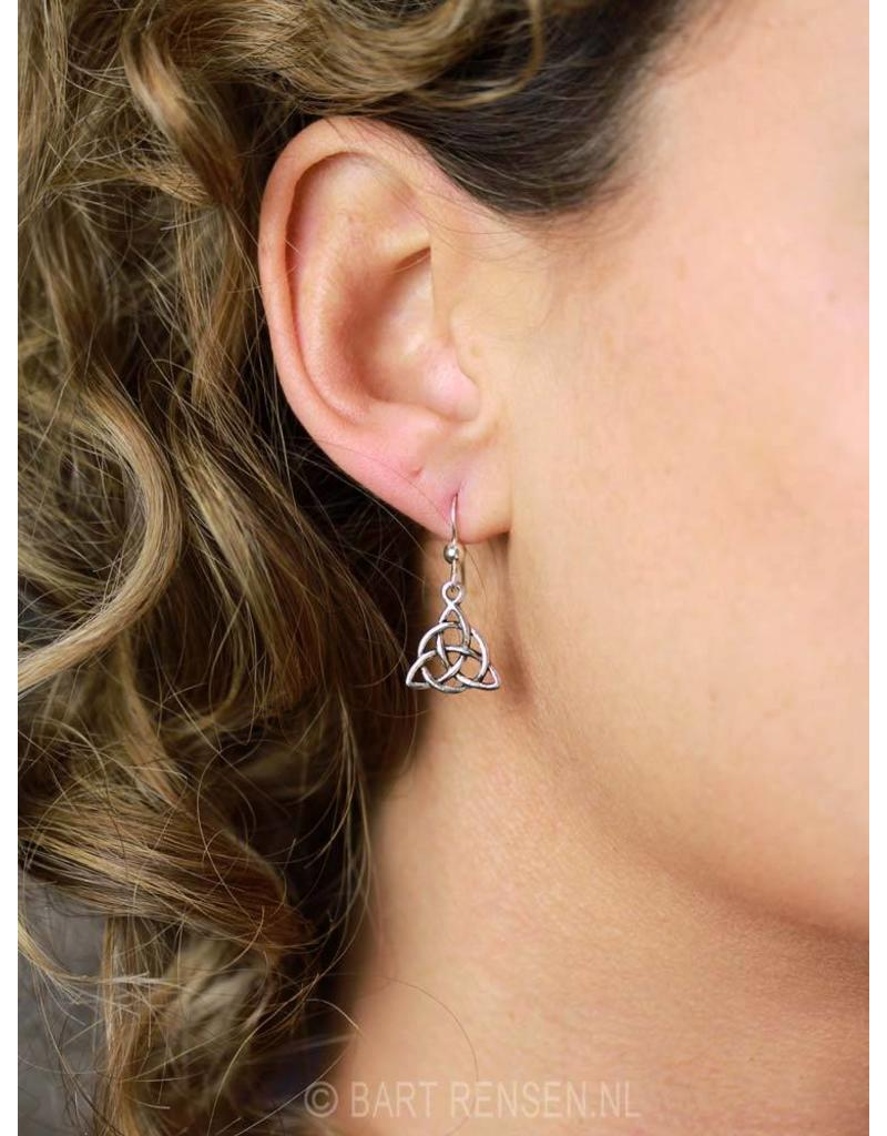 Triquetra earrings - sterling silver