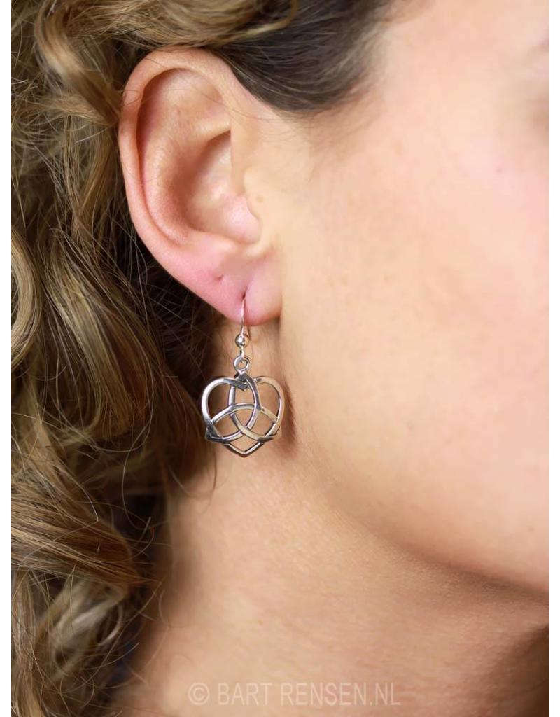 Triquetra Oorhangers - echt zilver