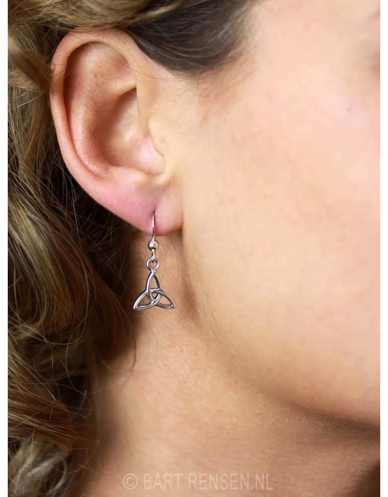 Triquetra earrings -- sterling silver