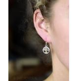 Tree of Life Pentagram Earrings - sterling silver