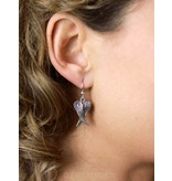 Angel wings Earrings - sterling silver