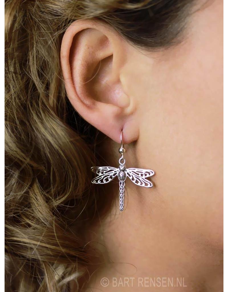 Libelle Oorhangers - echt zilver