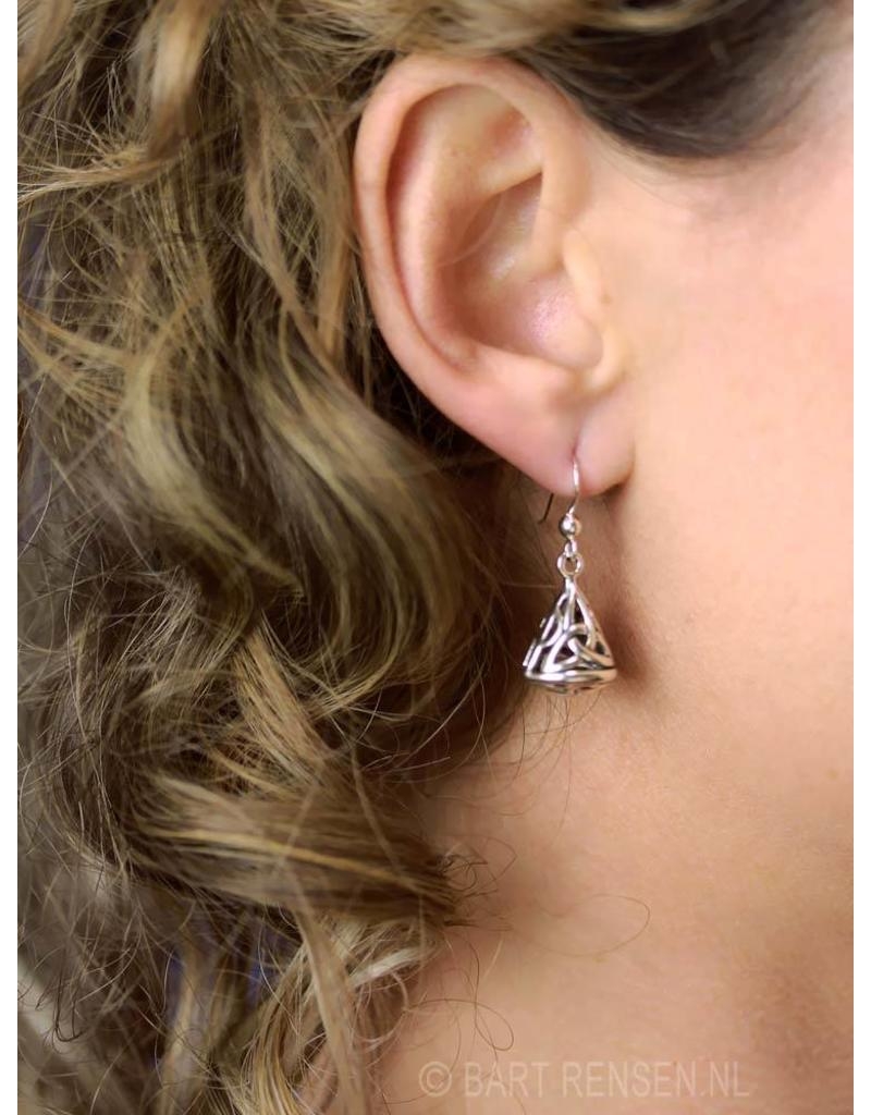 Triquetra Cone earrings - real silver