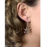 Triquetra Engel oorhangers - echt zilver