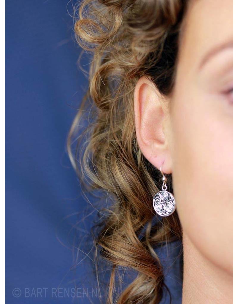 Triskel Triquetra oorhangers - echt zilver