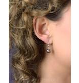 Opengewerkte Bolletjes oorhangers - echt zilver