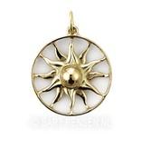 Ash pendant Sun - 14 carat gold