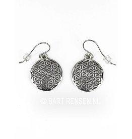 Flower of Life earrings silver