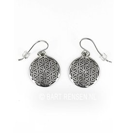 Flower of Life oorhangers-zilver
