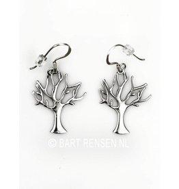 Levensboom Oorhangers - zilver