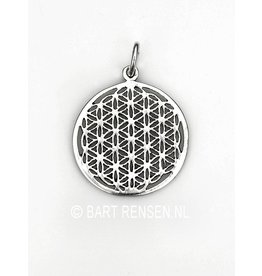 Flower of Life hanger-zilver