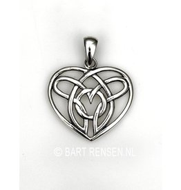 Celtic Heart pendant - silver