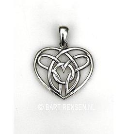 Keltisch Hart hanger-zilver