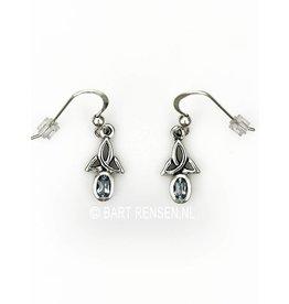 Triquetra oorhangers met steen
