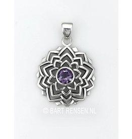 Kruin Chakra hanger - zilver