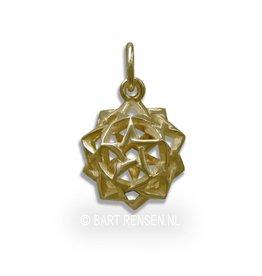 Pentagram dodecahedron - gold