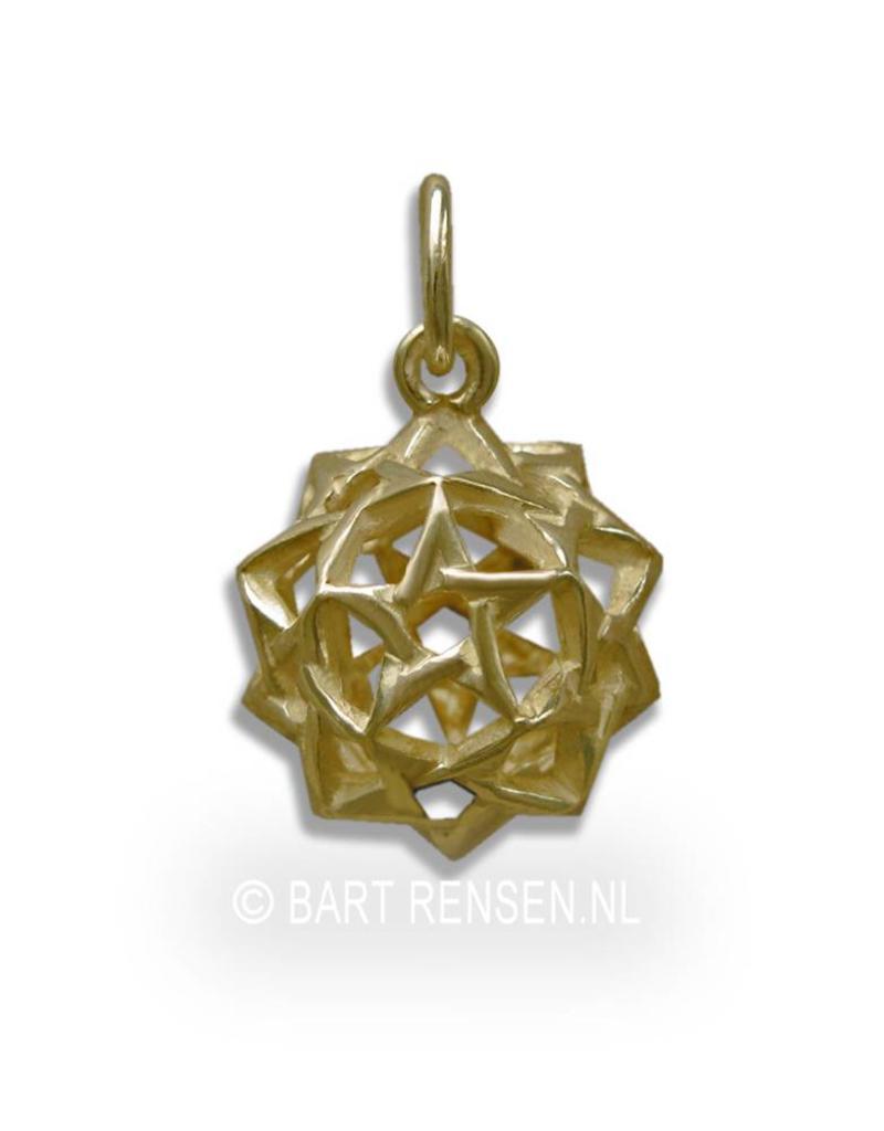 Pentagram dodecahedron pendant - 14 carat gold