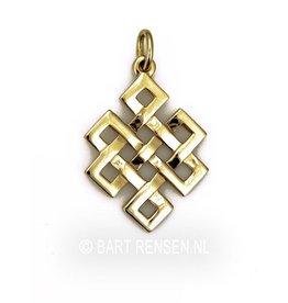Golden Tibetan Knot pendant -