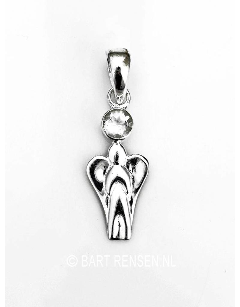 Engel hanger met steen - echt zilver