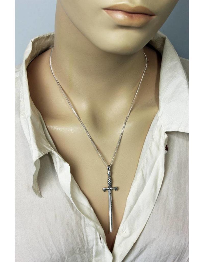 Sword pendant - sterling silver
