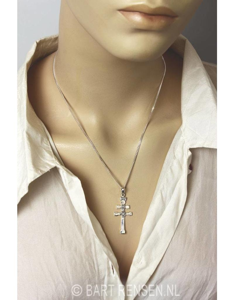 Orthodox Cross pendant - sterling silver