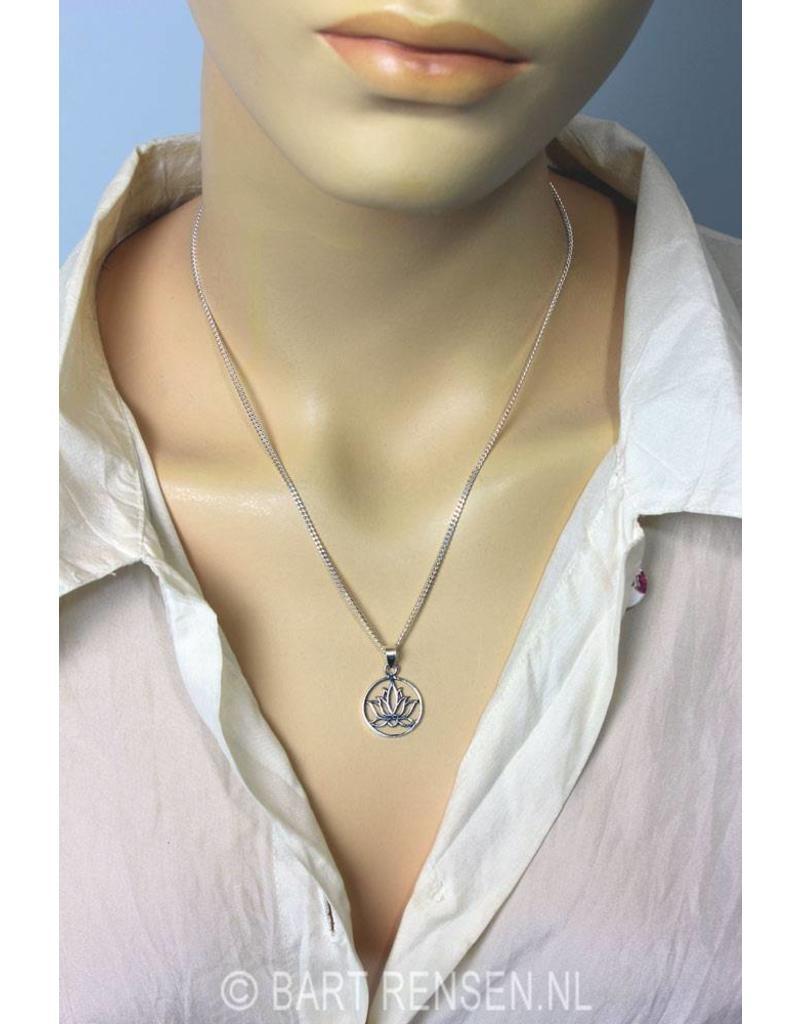 Lotus hanger - echt zilver