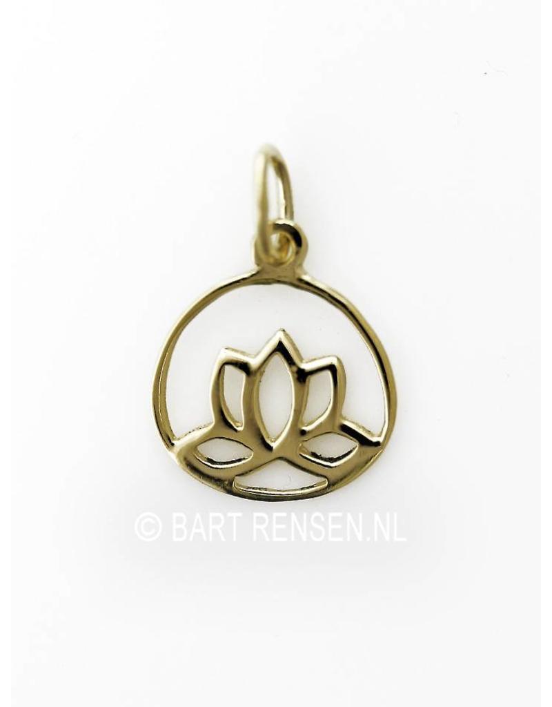 Lotus hangertje - 14 crt goud