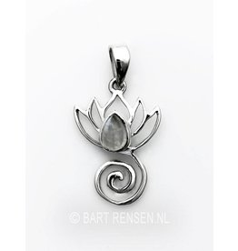Lotus pendant with stone