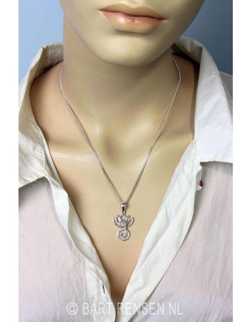 Lotus pendant - sterling silver