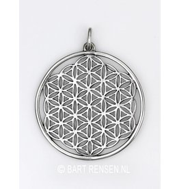 Zilveren Flower of Life hanger